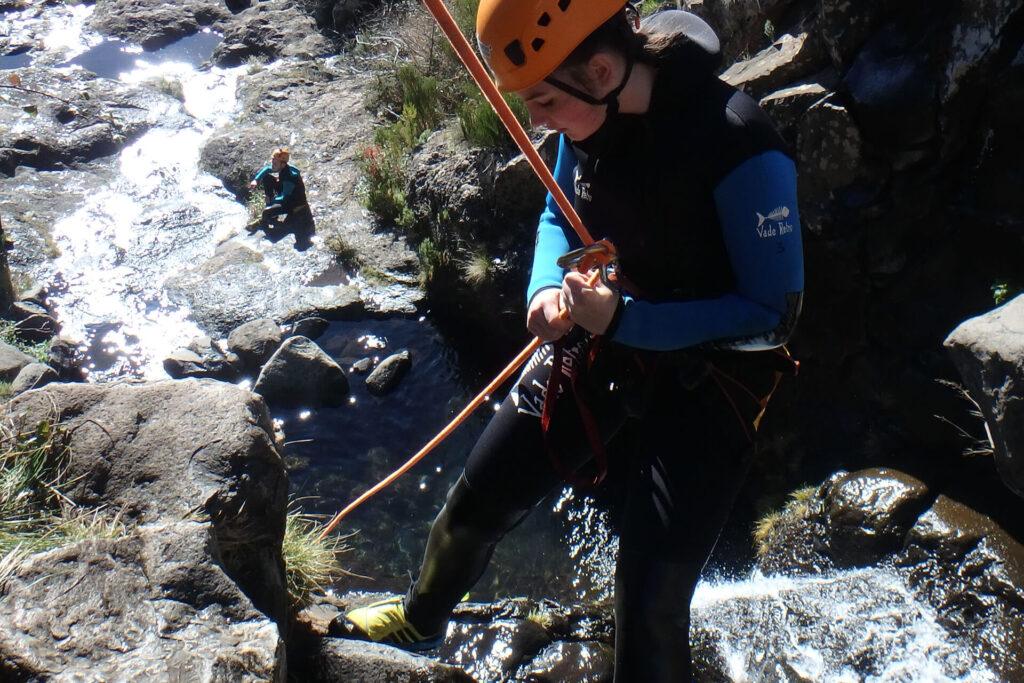 Canyoning na Ribeira das Cales