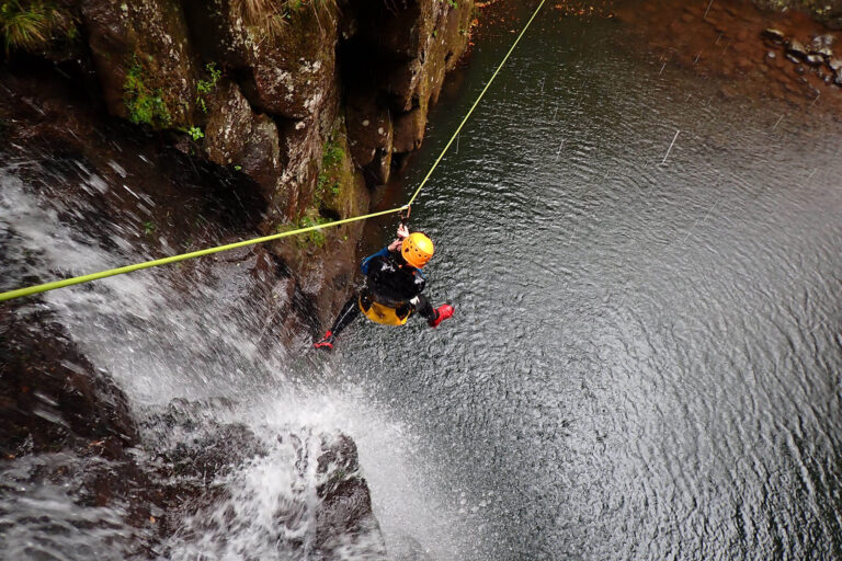 Canyoning on Ribeira do Lajeado