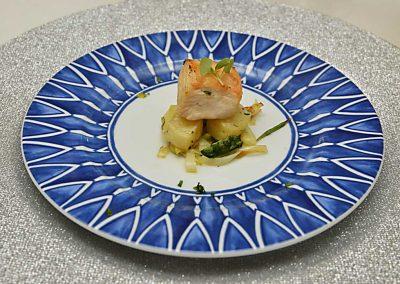 Gourmet-Abendessen mit Wein und Essen 6