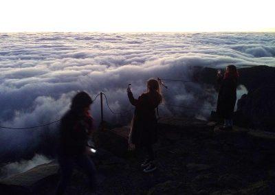 Nascer do Sol acima das nuvens 2